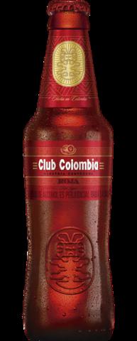 Botella retornable de 330 centímetros cúbicos de Club Colombia Roja