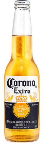 Botella no retornable de 355 centímetros cúbicos de Corona