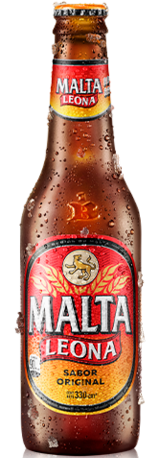 Botella retornable de Malta Leona 330 centímetros cúbicos