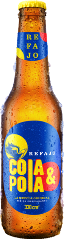Botella retornable de Cola y Pola 330 centímetros cúbicos