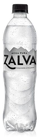 Botella reciclada y reciclable de Agua Zalva